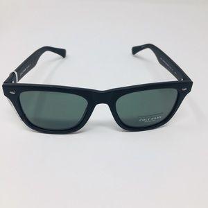 Cole Haan Polarized Sunglasses Matte Black/Green